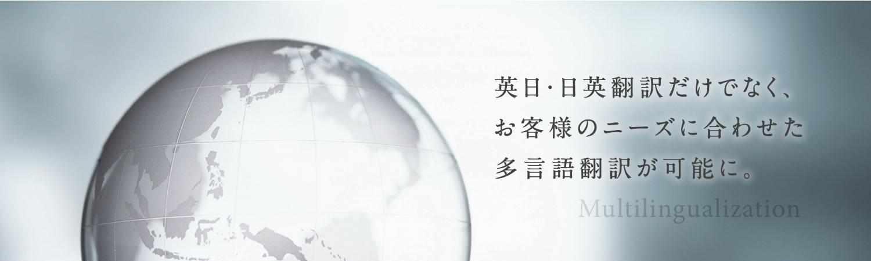お客様のニーズにあわせた多言語翻訳が可能です。